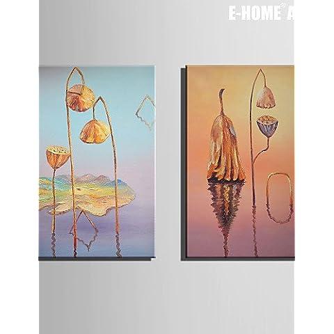 UZI-Creare l'arte perfetta Botanical Print Canvas Due pannelli Pronto da appendere,Verticale , 16