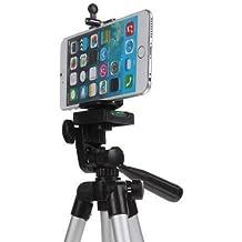 Universal Flexible Protable aluminio ligero trípode de cámara para iPhone 5S/5C/5/, iPhone6/6S/6plus, iPhone 7/7Plus, se, iPhone 4S/4, + cámaras digitales.