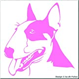 cartattoo4you AK-00415 | BULLTERRIER Kopf | Autoaufkleber Aufkleber FARBE rosa , in 23 weiteren Farben erhältlich, glänzend , 24 x 25 cm , Waschstrassenfest , Versandkostenfrei