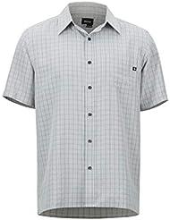 Marmot Eldridge Short Sleeve T- T-Shirt Manche Courte, Chemise de randonnée, avec Protection UV, Respirant Homme