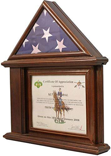 YANAN-Flagge, mit Zertifikat- und Dokumentenhalter, Rahmen ab -
