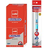 Cello Butterflow Ball Pen Set - Pack of 10 (Blue)