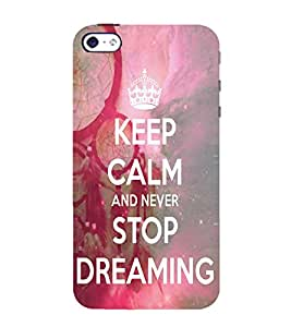 99Sublimation Dreaming 3D Hard Polycarbonate Back Case Cover for Apple iPhone 5