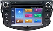 7 Zoll Android 10 Autoradio Doppel Din Radio für Toyota RAV4 2006-2012 mit Touchscreen GPS Navigation DVD CD B