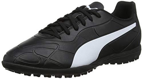 Puma Herren Monarch TT Fußballschuhe, Black White, 45 EU