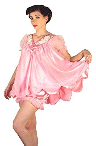 tt Spitze und Satin Kostüm Sleep Wear, Rosa (Boudoir Kostüme)