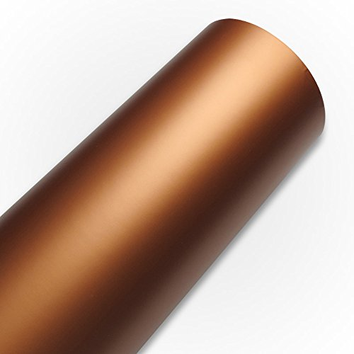 HOHO - Selbstklebende, matte Vinylfolie zum Basteln, 120x 50cm, für Cricut, Silhouette Cameo, Craft Cutters, PVC, rose gold, 120CMX50CM