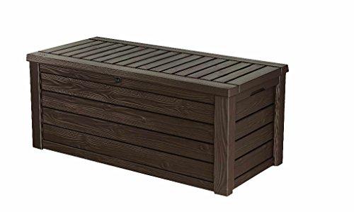 Keter Westwood Box Aufbewahrungsbox, 570 L, espressobraun, 72.40 x 155 x 64.40 cm