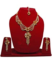 Bridal American Diamond Jewellery Sets For Wedding Jewelleries For Women Necklace For Girls Fashion Party Wear...
