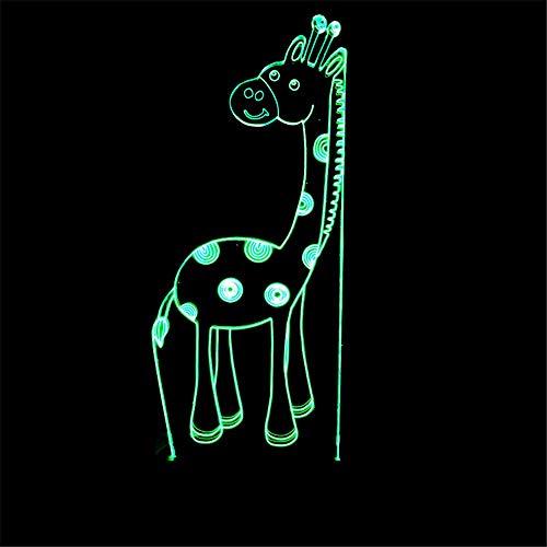 Verkauf 3D Giraffe kreative dekorative Lichter bunten Nachtlicht 3D visuelle Licht LED Energiesparende Nachttischlampe (Verkauf Verrückte Hüte Für)