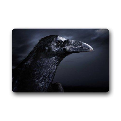 deyhfef Fußmatten Halloween-Rabe-Vogel-Hintergrund Fußmatte/Gate Pad für Outdoor, Indoor, Badezimmer Verwenden! 23.6 Zoll (L) x 15.7 Zoll (W)