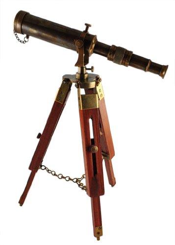 Antique maritime brass Telescope with adjustable tripod standÂ
