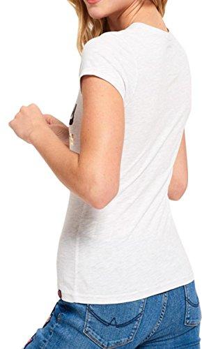 Superdry Donna Maglieria/T-Shirt Vintage Logo Foil Pop Entry Ice Marl