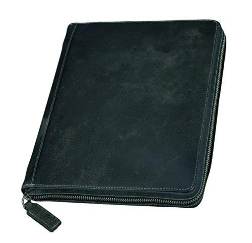 Pride and Soul 41102 - Tablet-PC Hülle Flush aus Vollrindleder, schwarz/grau -