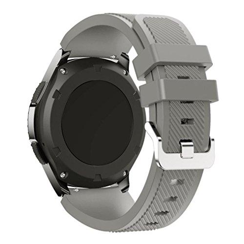 Klassischer Silikonriemen Armband Kompatibel für Samsung Gear S3 Classic ,Kaiki Neue Art- und Weisesport-Silikon-Armband-Bügel-Band für Samsung Gear S3 Classic (Gray)