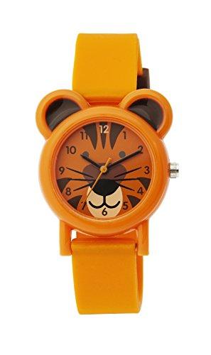 Tikkers TK0090 - Reloj de pulsera unisex, silicona, color naranja
