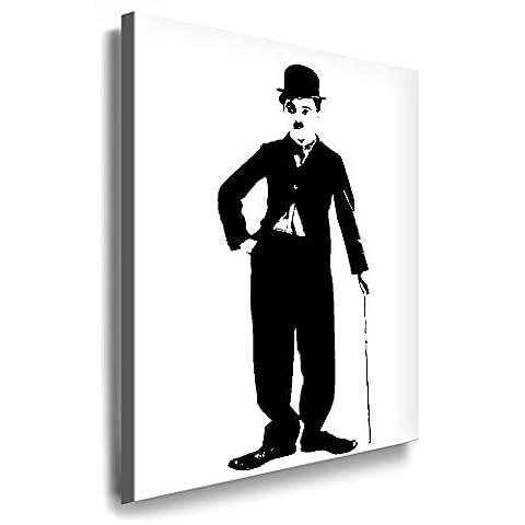 Boikal / Leinwand Bild Charlie Chaplin - The Legend Leinwanddruck, Kunstdruck fm17 Wandbild 60 x 40