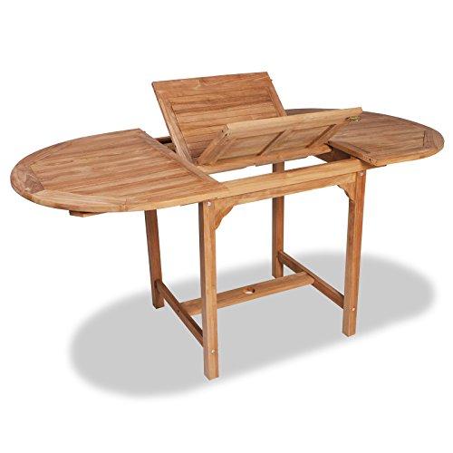 vidaXL Table de Salle à Manger d'extérieur Extensible en Teck Table de Jardin terrasse