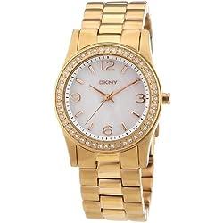 DKNY Women's Quartz Watch Broadway 3 Hand NY8336 with Metal Strap