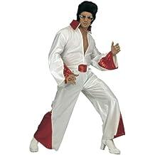 WIDMANN 35203 - Disfraz adulto Rey del Rock N Roll, traje de lentejuelas y cinturón