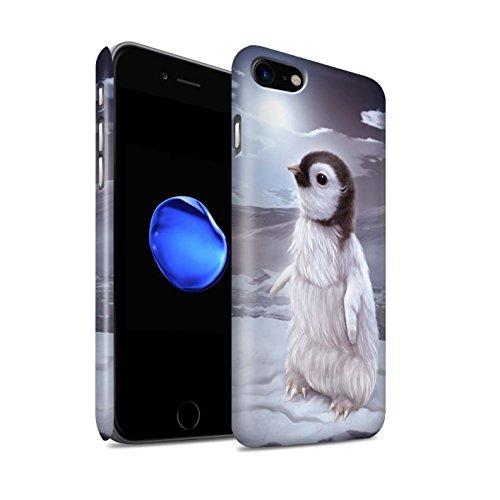 Officiel Elena Dudina Coque / Clipser Matte Etui pour Apple iPhone 7 / Jacinthe Design / Les Animaux Collection Le Voyageur/Manchot