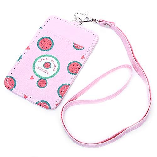 mit Schlüsselband, Schlüsselbund,Niedlicher Obst Kartenhalter Abzeichen Halter Büros Studenten Kartenhalter für Frauen Mädchen Kinder ()
