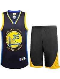 NBA Durant No. 35 Jersey Männer Basketball Kleidung T-Shirt Anzug,Black,