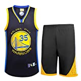 NBA Durant No. 35 Jersey Männer Basketball Kleidung T-Shirt Anzug,Black,M