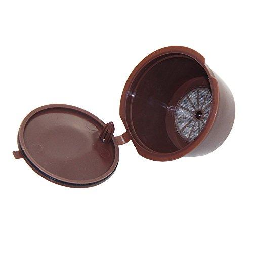 Nachfüllbar Kaffee Kapsel wiederverwendbar Filter für Nescafe Dolce Gusto System 3Pack - 4