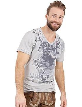 Krüger - Herren Trachten T-Shirt, Jäger Grau (95213-43)