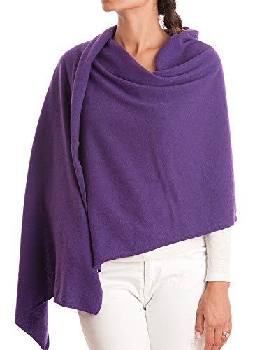Dalle piane cashmere - stola in misto cashmere - donna, colore: viola, taglia unica