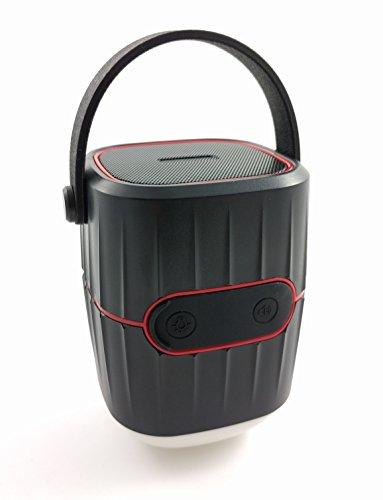 Koning LED Laterne 3 in 1 wasserdichter Bluetooth 4.1 Lautsprecher, Laterne 4W und 8800 mAh Powerbank – Outdoor Gadget für Urlaub, Reisen, Camping und Zelten