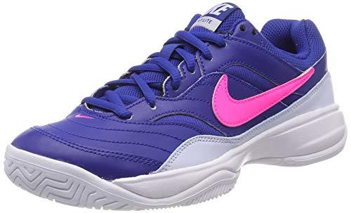 Nike Wmns Court Lite, Zapatillas de Tenis para Mujer, (Indigo Force/Pink Blast-Half Blue-White 464), 38.5 EU