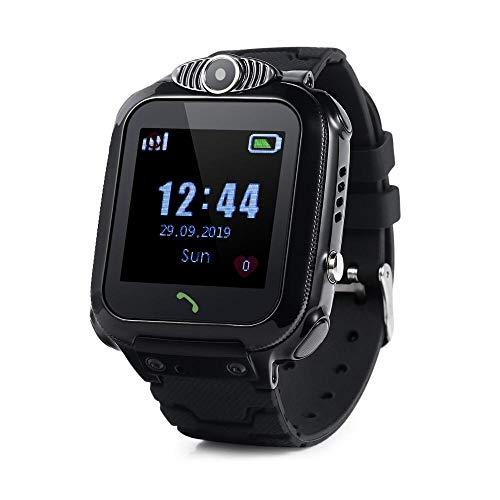 JBC Kinder GPS Uhr | Smart Watch WiFi | SOS Telefon | GPSTracker Ohne Abhörfunktion (Schwarz)