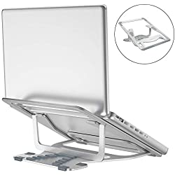 "Megainvo Support réglable pour Ordinateur Portable MacBook Support entièrement ventilé en Alliage d'aluminium Ergonomique pour 11-17"" iPad MacBook Air Pro et autres Ordinateurs Portables Laptop Stand"