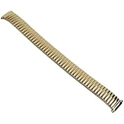 Eulit Flex Ribbon Tie Back Replacement Stainless Steel Band IP yellow Gold 12 mm - 14 mm 76 425004