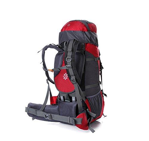 SZH&BEIB Rucksack Wandern Extra Large Kapazität 70 + 5L für Outdoor-Reisen Camping Tasche wasserdicht Nylon C