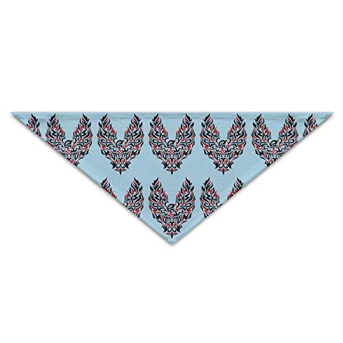 d Tribal Tattoo Dog Bandanas Scarves Triangle Bibs Scarfs Lovely Basic Dogs Neckerchief Cat Collars Pet Costume Accessory Kerchief for Large&Medium&Small Puppy ()