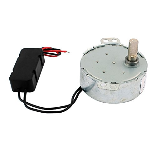 Price comparison product image sourcingmap DC 12V 5RPM CCW/CW Direction Synchronous Motor 7mm Shaft Dia for Microwave