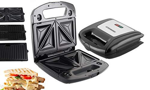 3in1 Waffeleisen | Sandwichmaker | Elektrogrill | Sandwichtoaster | Kontaktgrill | Paninigrill |...