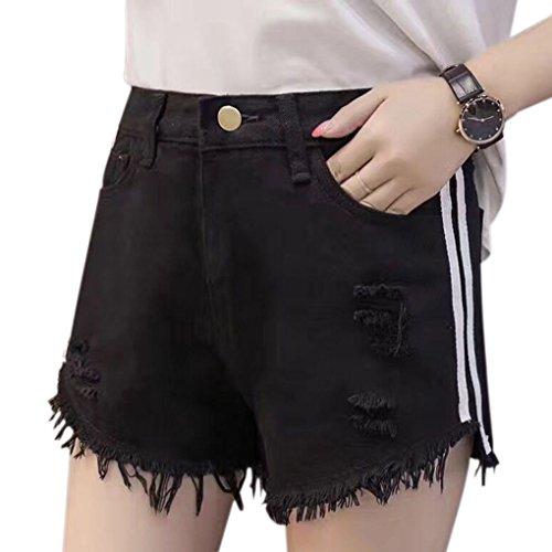 Republe donne pantaloni corti pantaloni estivi ragazze jeans casuali allentati pantaloncini a vita alta