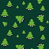 Weihnachtsgeschenkpapier Merry Christmas Grün - 3er Set