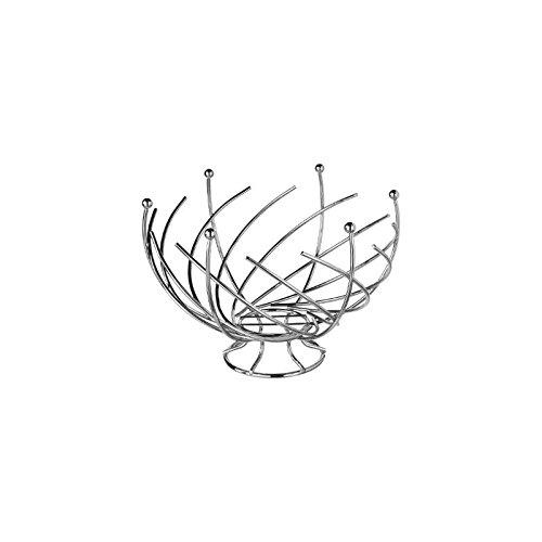 Secret de gourmet 744801 - Corbeille à fruits Design et Originale - Forme Spirale - Gris
