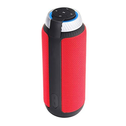 HIOD Bluetooth Kabelloser Lautsprecher 33 Fuß (10 m) Bluetooth Reichweite Schwerer Bass Stereo Subwoofer für Draussen Sport Familie Reise,Red