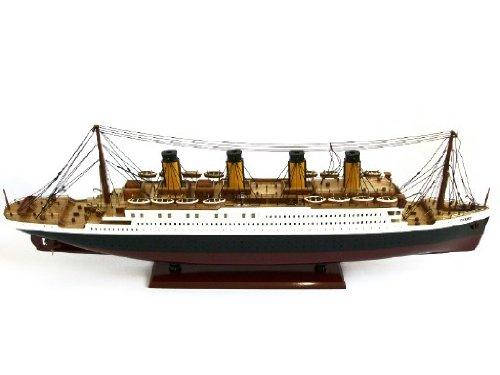 RMS Titanic (bemalt) Passagier rutschsicher–Executive Holz Desktop Modell (Lines Top Cruise)