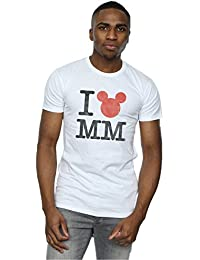 Disney Men's I Love Mickey Mouse T-Shirt