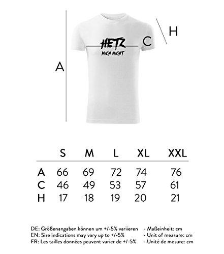 Herren Shirt Hetz mich nicht schwarz & weiß Motiv - T-Shirt Poloshirt mit Motiv - Neu S - XXL Weiß