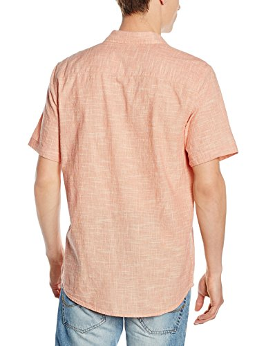 New Look Herren Freizeithemd Kaiser Texture Orange - Orange (Light Coral)