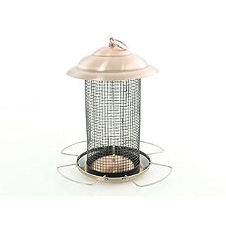 aniba Design aniba Futterstelle / Vogelhaus für Vögel mit Kupferdach ABVH022