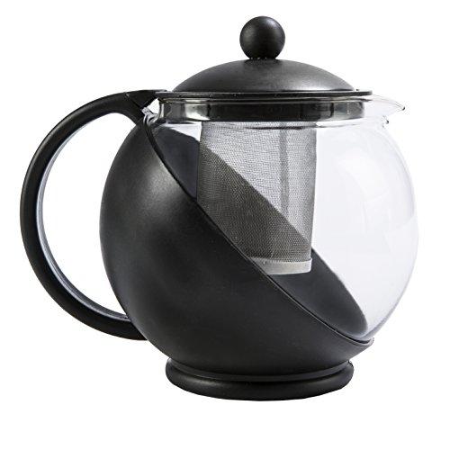 Primula Heute Kate Half Moon Teekanne Glas nicht behalten Geschmack Edelstahl-Ei 40Unzen -